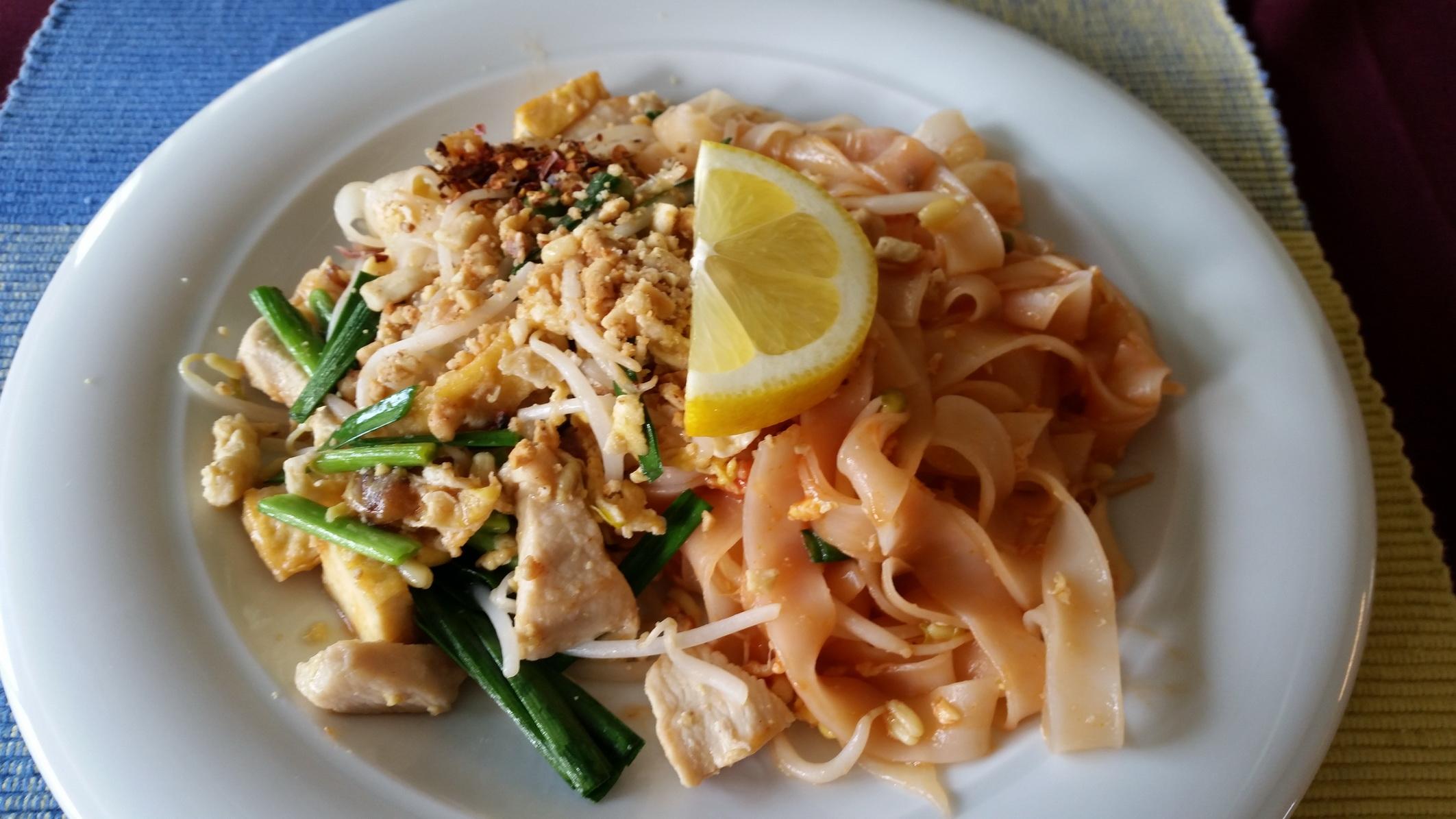 Gebratene Reis Poulet_ Gemüse_Phad Thai Poulet