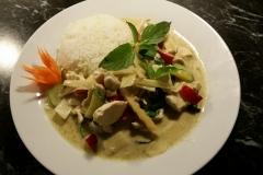 Grüne Curry mit Poulet