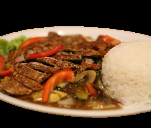Ente Bangkok (Roter od. grüner Curry)